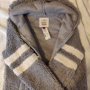 NWT Sherpa Zip Up Jacket Hoodie Sherling Teddy